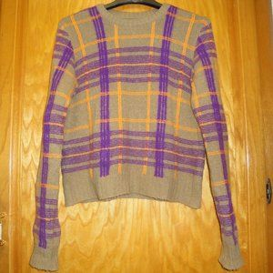 Benetton Made in Italy Plaid Sweater S Med. to L